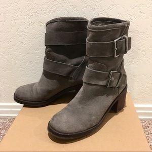 EUC Sam Edelman Gray Suede Boots 6.5